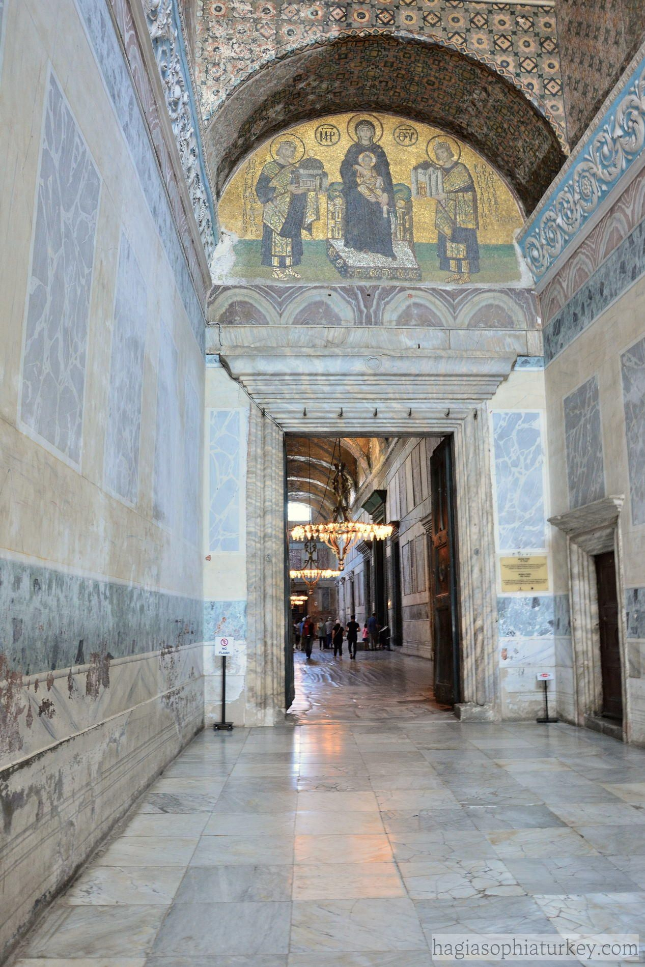 Located Over The South Door In The Vestibule The Mosaic Dates To The 10th Century The Mosaic Is Tho In 2020 Hagia Sophia Byzantine Empire Ancient History Archaeology