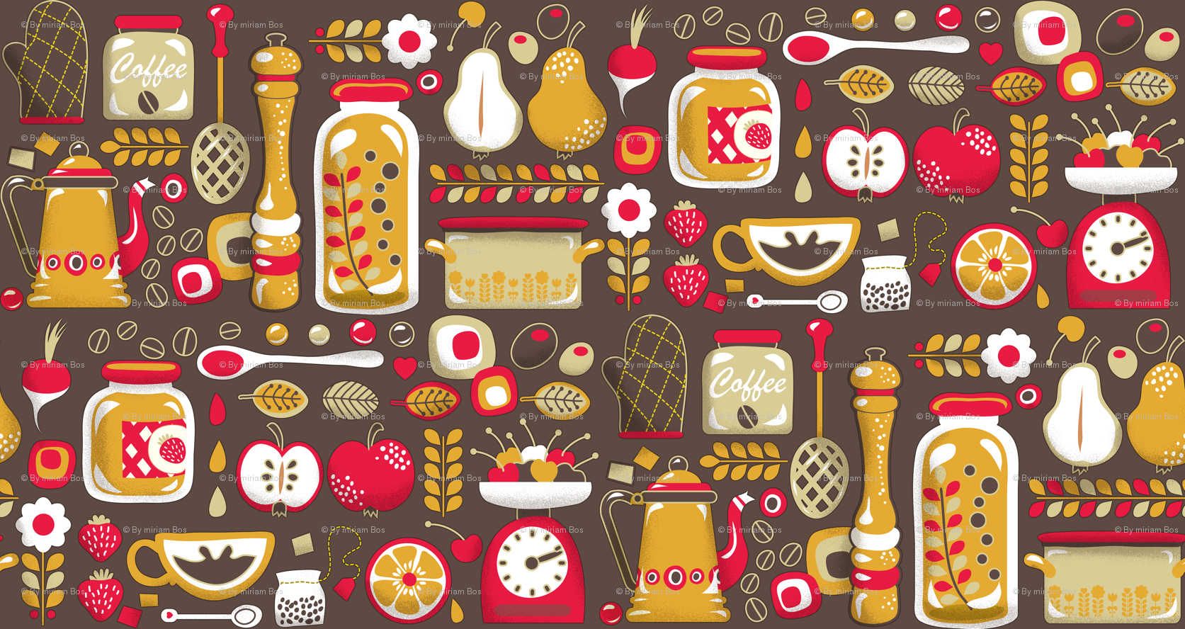 Kitchen Wallpaper · COOK BOOK ART