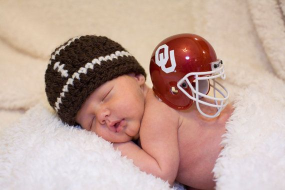 Costume Hat Football Baby Hat OU NFL College Toboggan Beanie Crochet.   18.00 453ba570b35d