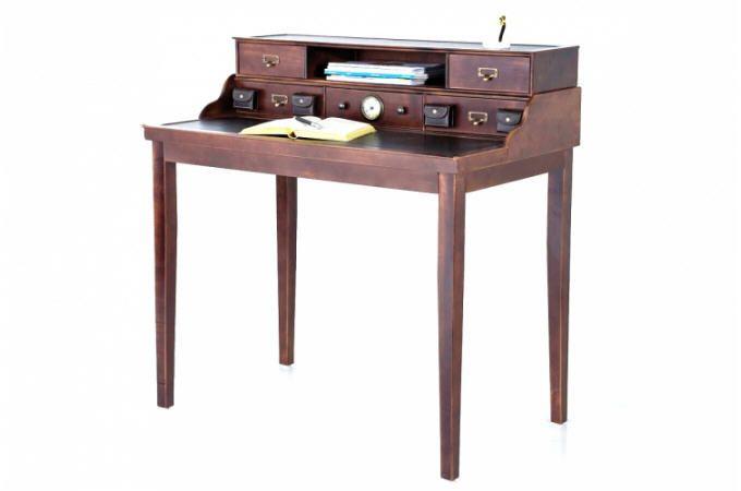 Secrétaire kare design en bois style colonial colomb bureau