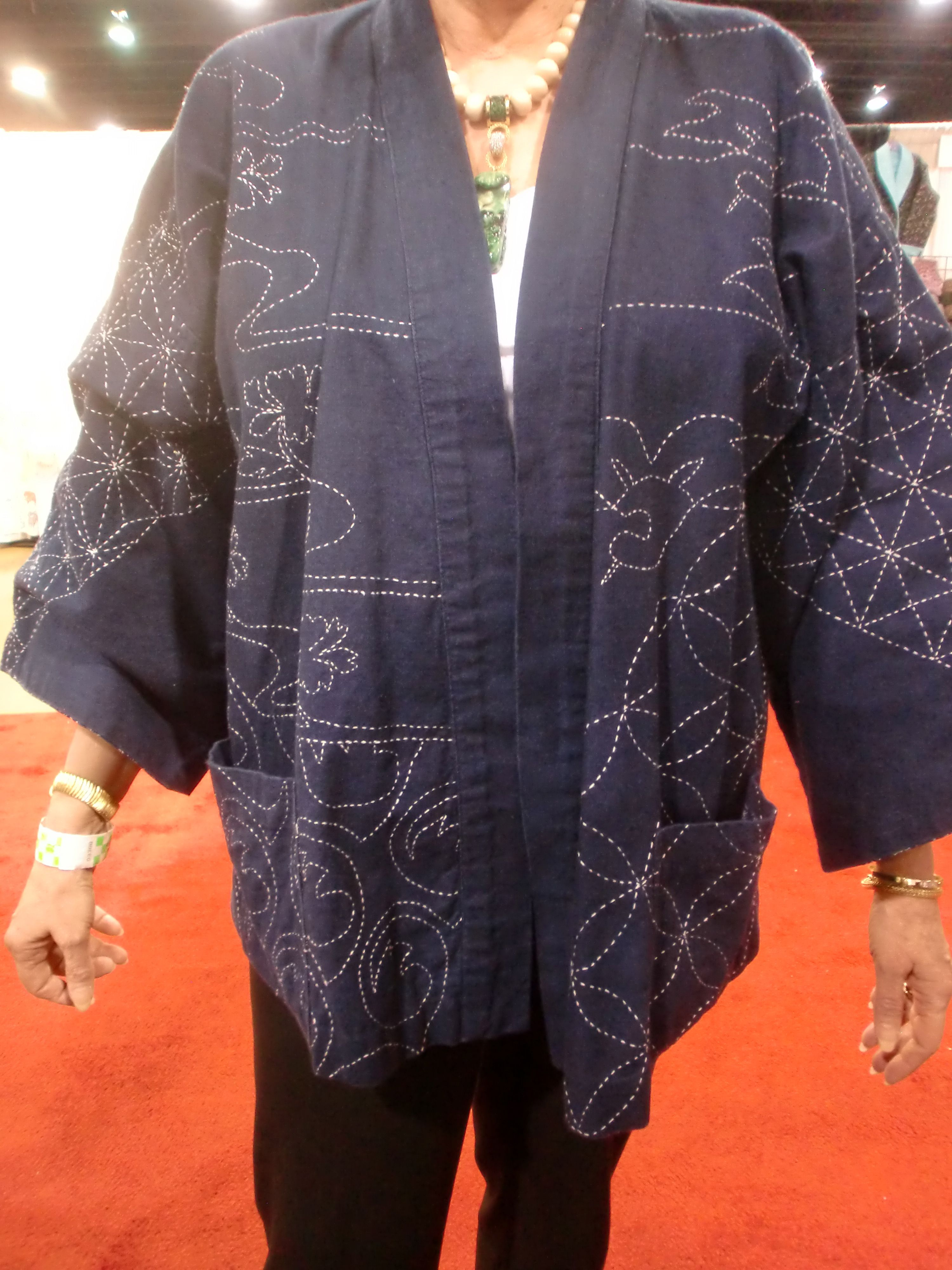 Absolutely outstanding Sashiko work on this elegant jacket - I ... : original sewing and quilt expo - Adamdwight.com