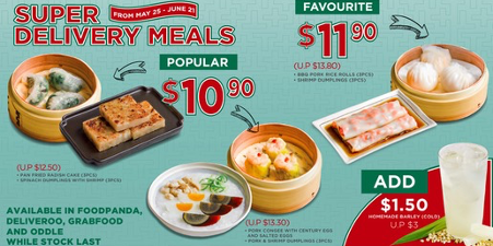 Super Delivery Meals Save Up To 20 From 25th May Onwards Food Delivery Meals Food Menu