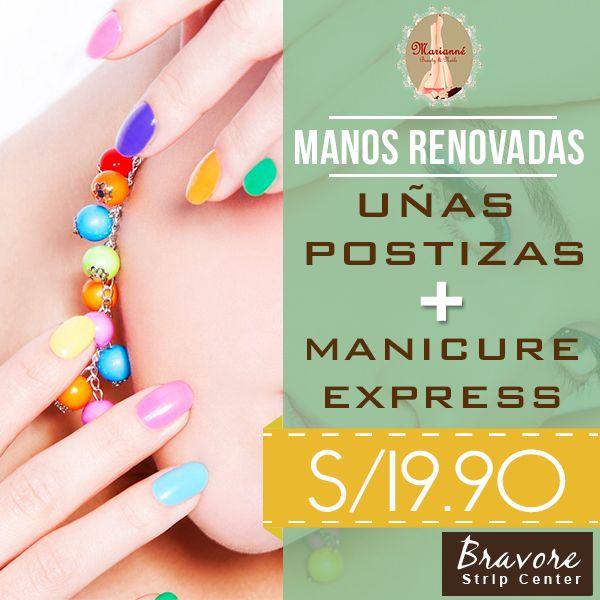 Uñas postizas + Manicure express a sólo S/19.90 aprovecha esta ...