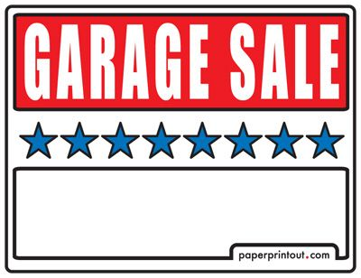 image regarding Printable Garage Sale Signs identified as Garage Sale Symptoms - Absolutely free, Printable and Downloadable