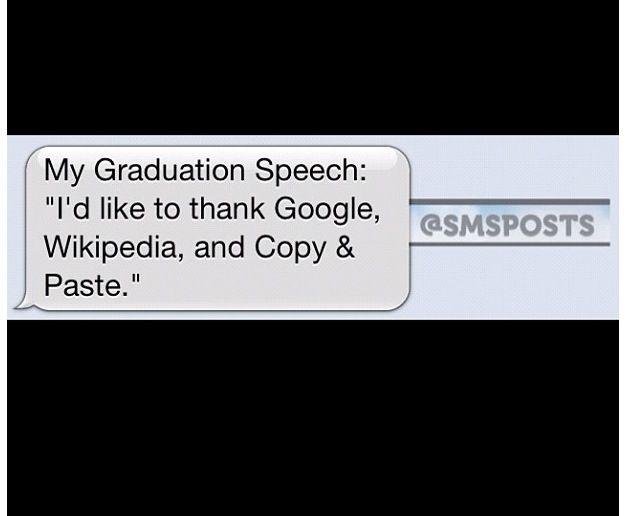 Graduation speech! Haha