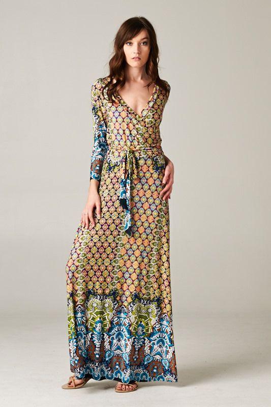 WOW!!! Boho Maxi Wrap Dress LOVE LOVE LOVE http://www ...