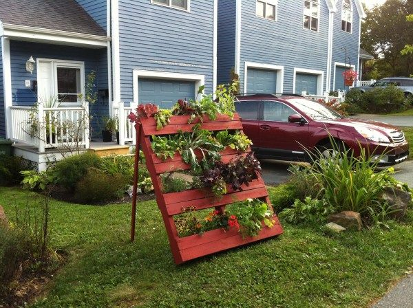 Innovative DIY Pallet Vertical Garden Ideas