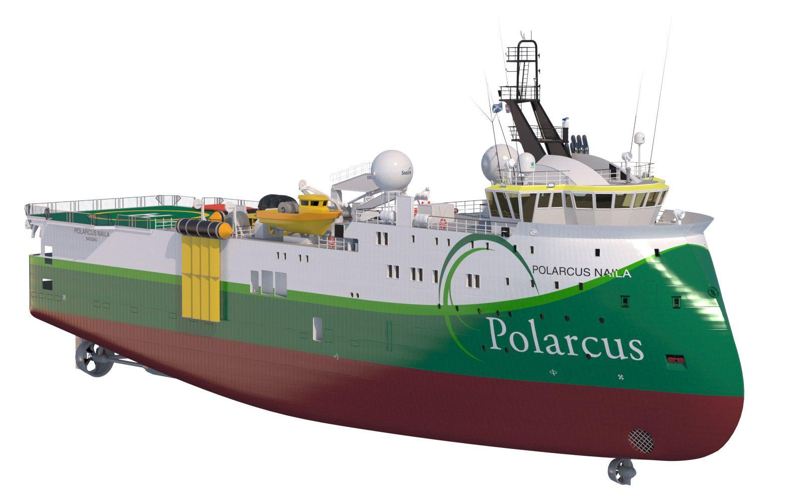 Seismic Vessel Polarcus Naila 3D Model - 3D Model