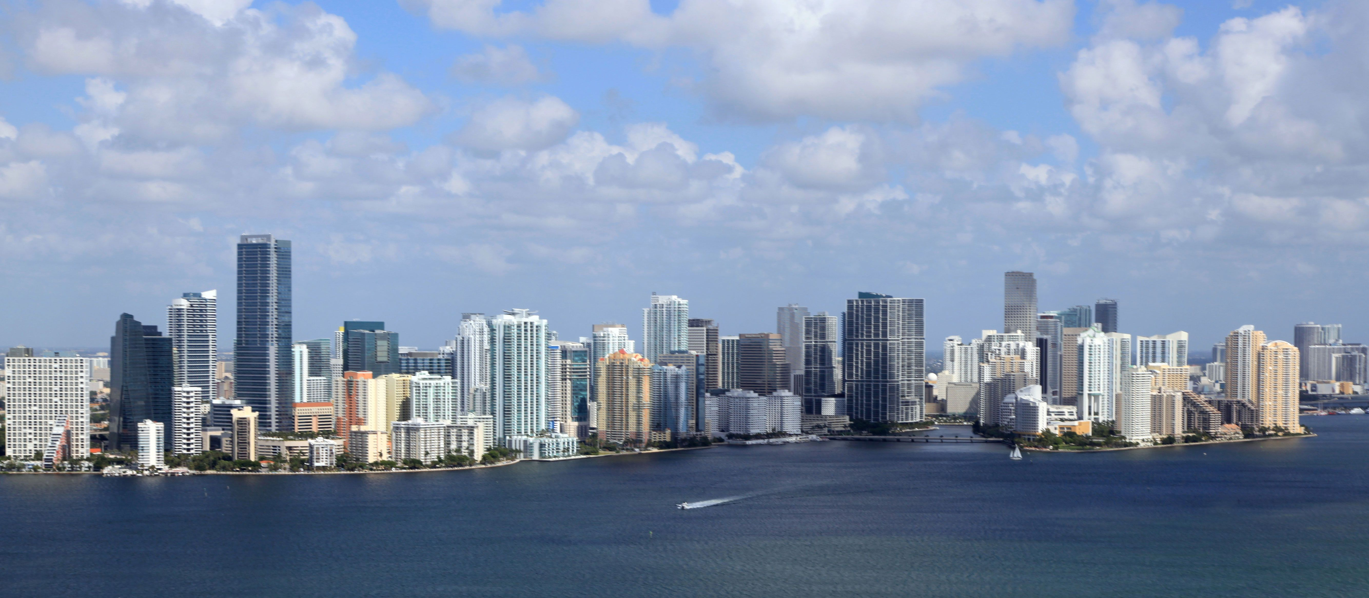 A gorgeous daytime skyline of Downtown Miami.You can never get sick of the #view!