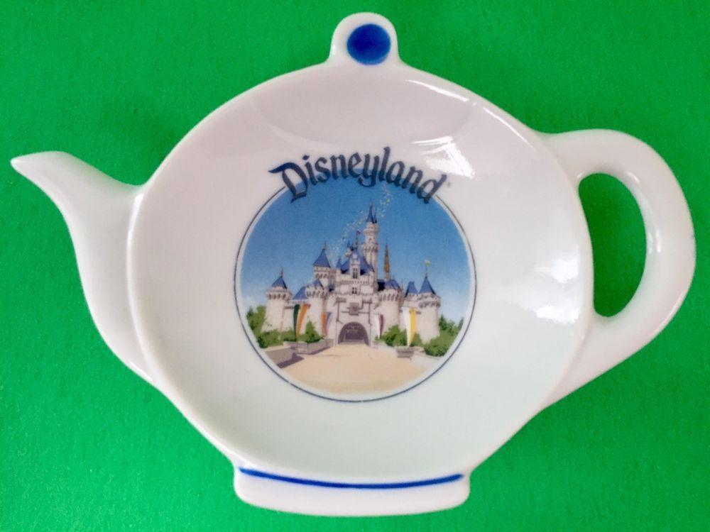 Disneyland Tea Bag Holder Teapot Trinket Dish Castle Vintage Ceramic Spoon Rest Disney Tea Bag Holder Ceramic Spoon Rest Ceramic Spoons