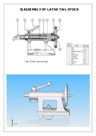 Assembly and Details machine drawing pdf | Ts overview in