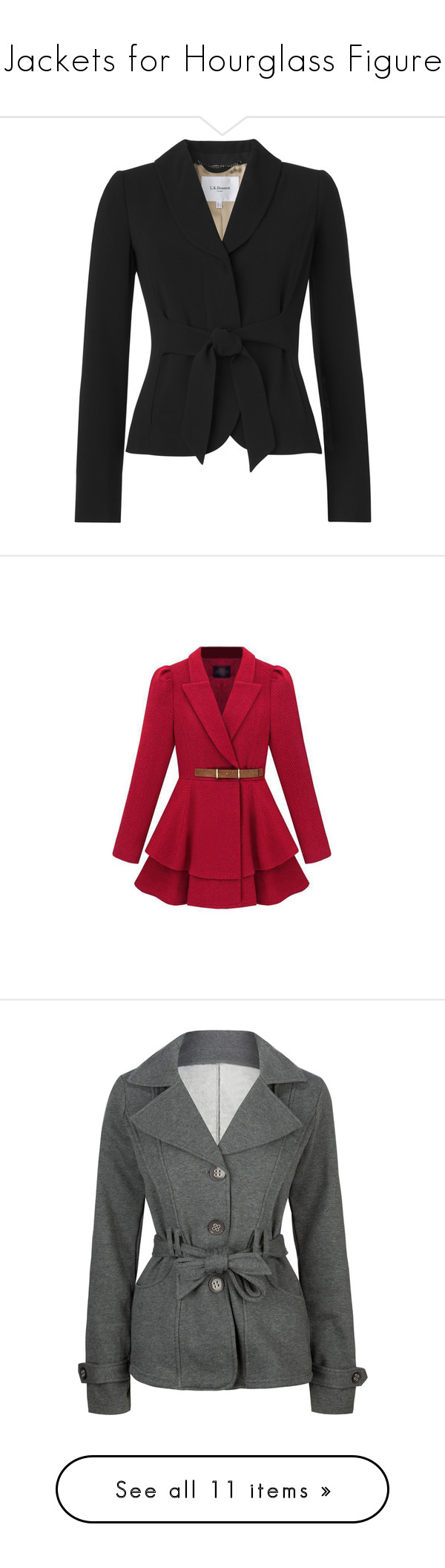 """""""Jackets for Hourglass Figure"""" by floweringsucculent ❤ liked on Polyvore featuring outerwear, jackets, blazer, black, tops, shawl collar jacket, belted jacket, shawl collar blazer, tailored blazer and blazer jacket"""