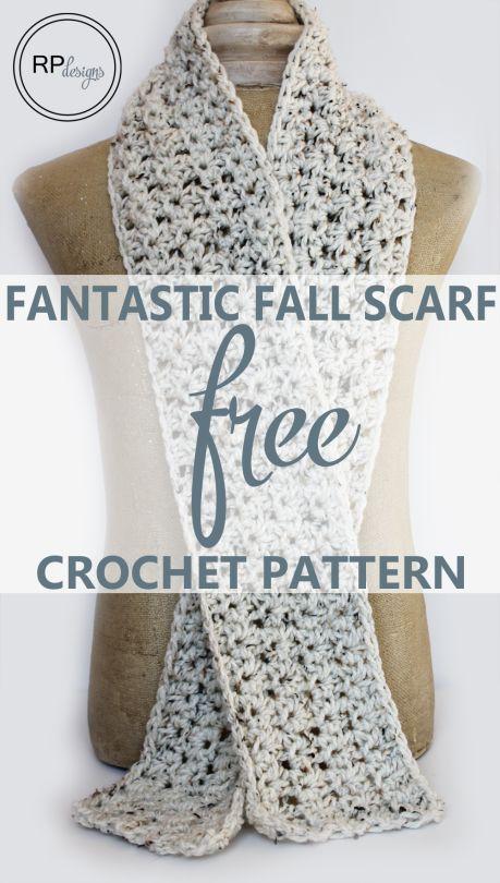 Free Crochet Scarf Pattern #crochetscarves