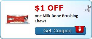 New Coupon!  $1.00 off one Milk-Bone Brushing Chews - http://www.stacyssavings.com/new-coupon-1-00-off-one-milk-bone-brushing-chews/