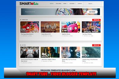 Smart Tube Video Blogger Template Blogger Templates Tube Video Templates