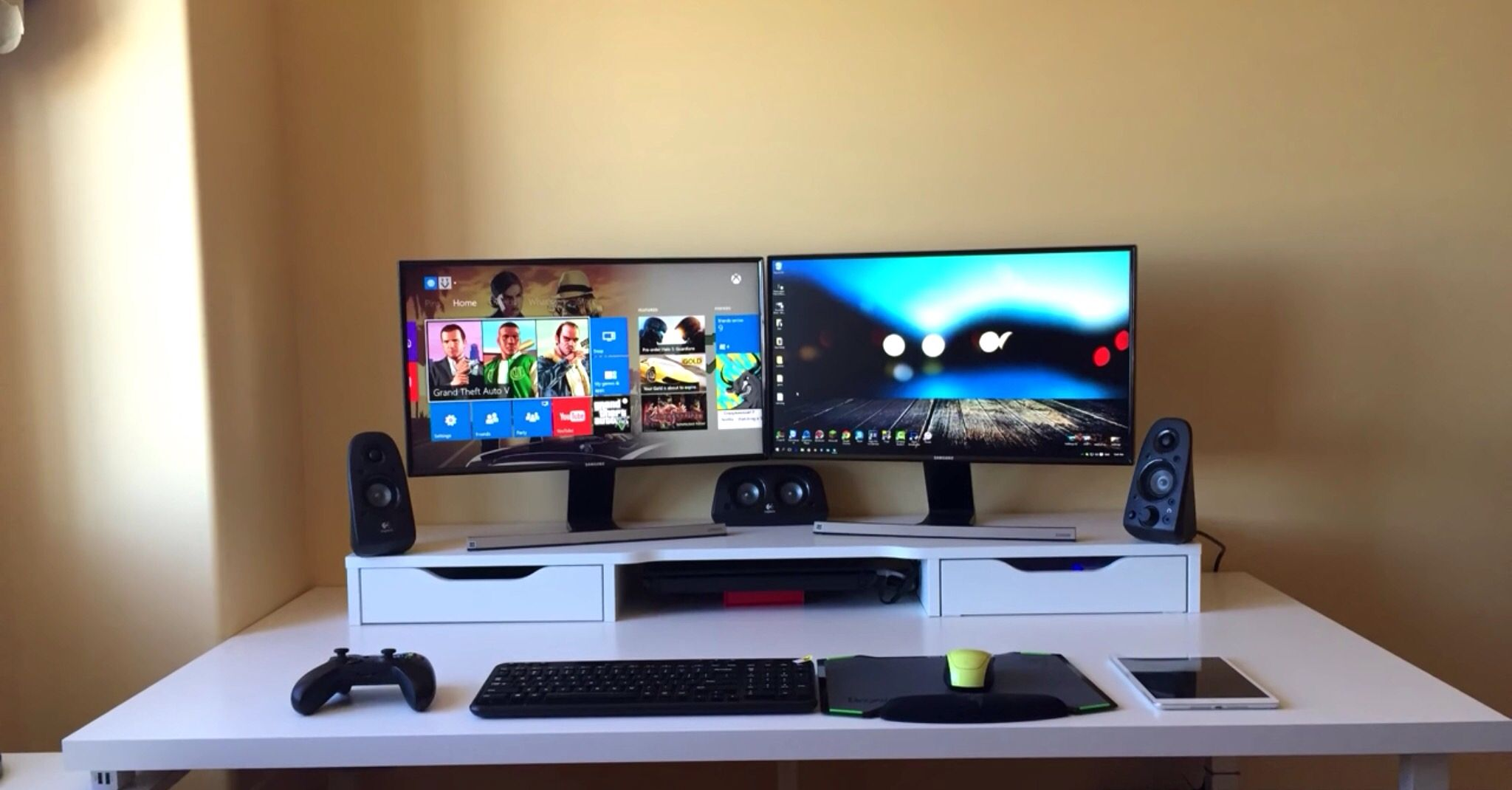 Cheap double monitor setup gaming pinterest monitor for Home office gaming computer