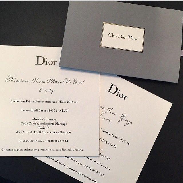 Dior fashion show invite Presentaion Pinterest Dior fashion - fresh sample invitation letter singapore