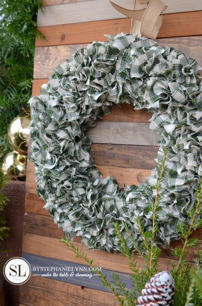 Photo of Checkered fabric wreath how to make a rag wreath – bystephanielynn