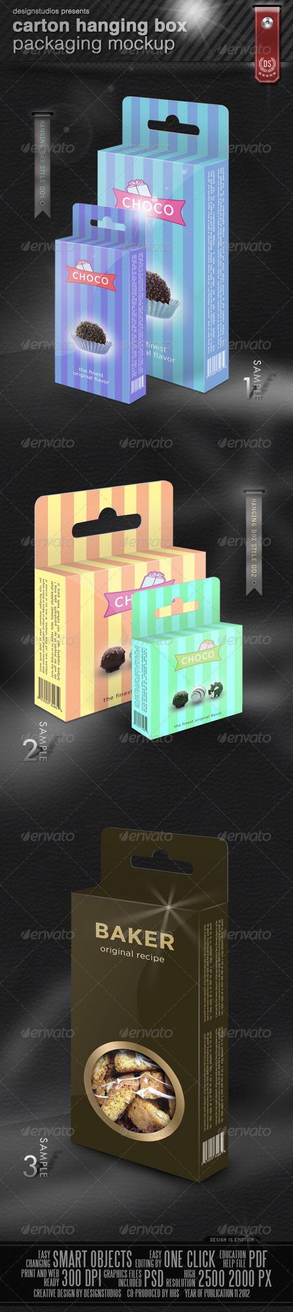 Download Carton Hanging Box Packaging Mock Up Packaging Mockup Box Mockup Box Packaging