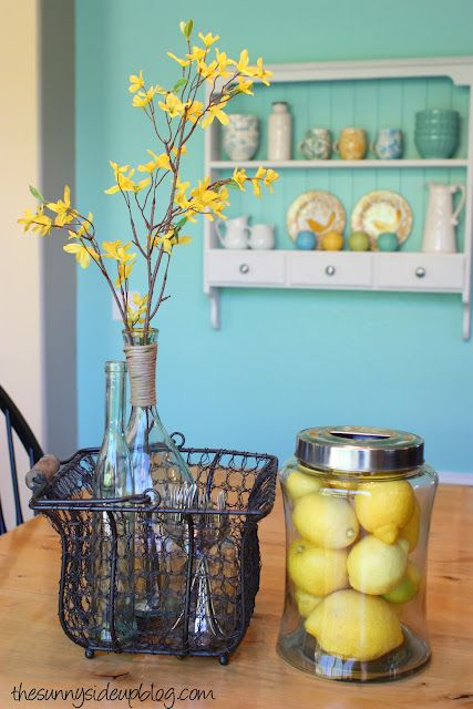 More Spring Decor The Sunny Side Up Blog Yellow Kitchen Decor