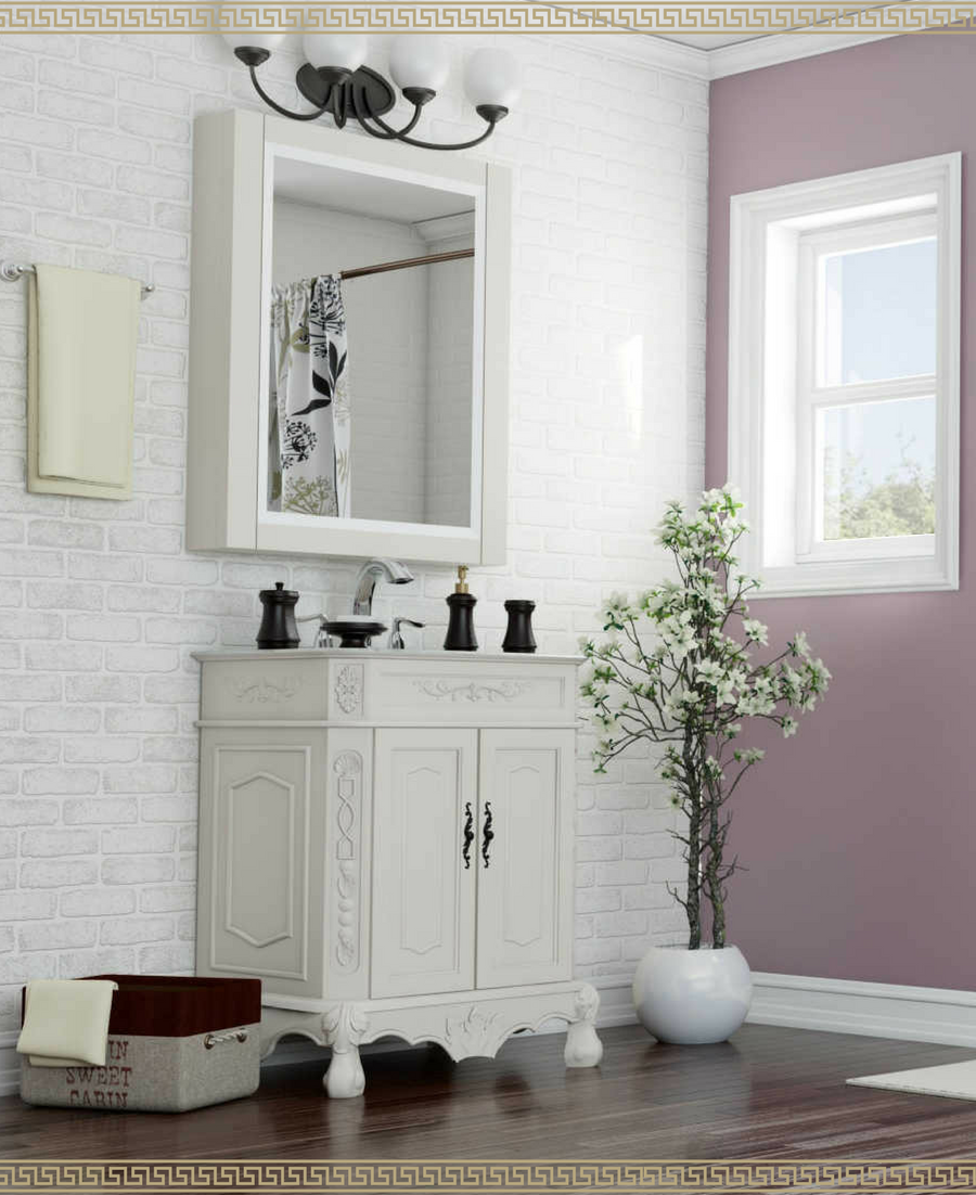 I\'m loving lavender bathroom walls! This subtle accent wall is ...