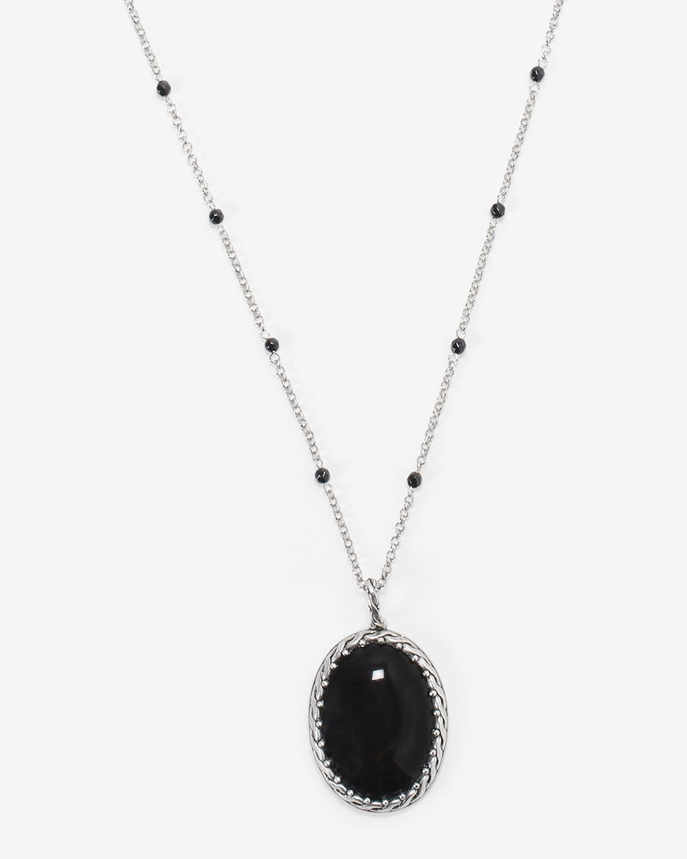Womenus black onyx oval pendant necklace by whbm womenus boots