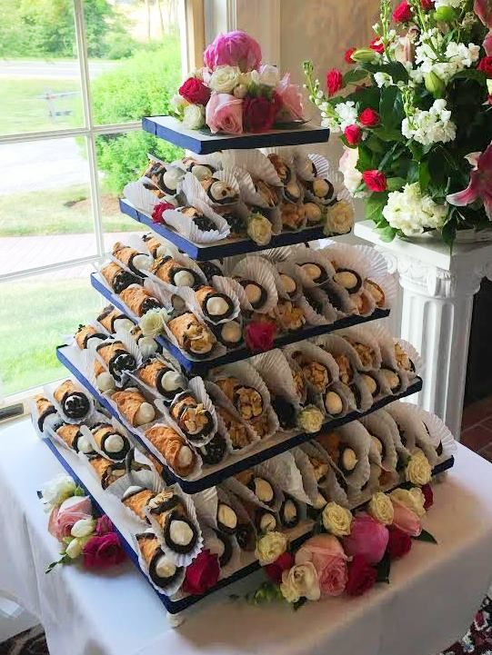 Nontraditional Wedding Cake Cannoli Tower By The Casual Gourmet