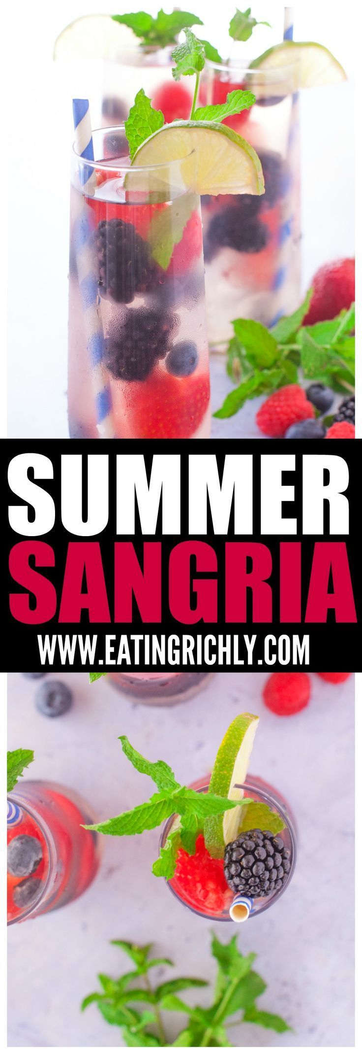 Summer Sangria Delicious Perfect Summer Berries This Refreshing Summer Sangria Berry Punch Is Made With Ries Summer Sangria White Sangria Recipe Berry Punch