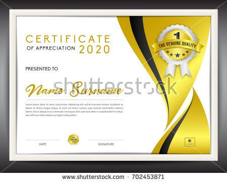 Certificate template vector illustration diploma layout in a4 size certificate template vector illustration diploma layout in a4 size gold business flyer design yelopaper Image collections