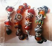 Curling Stones for Lego People Trollbeads  Autumnal Bangle with the others in the setautumnal