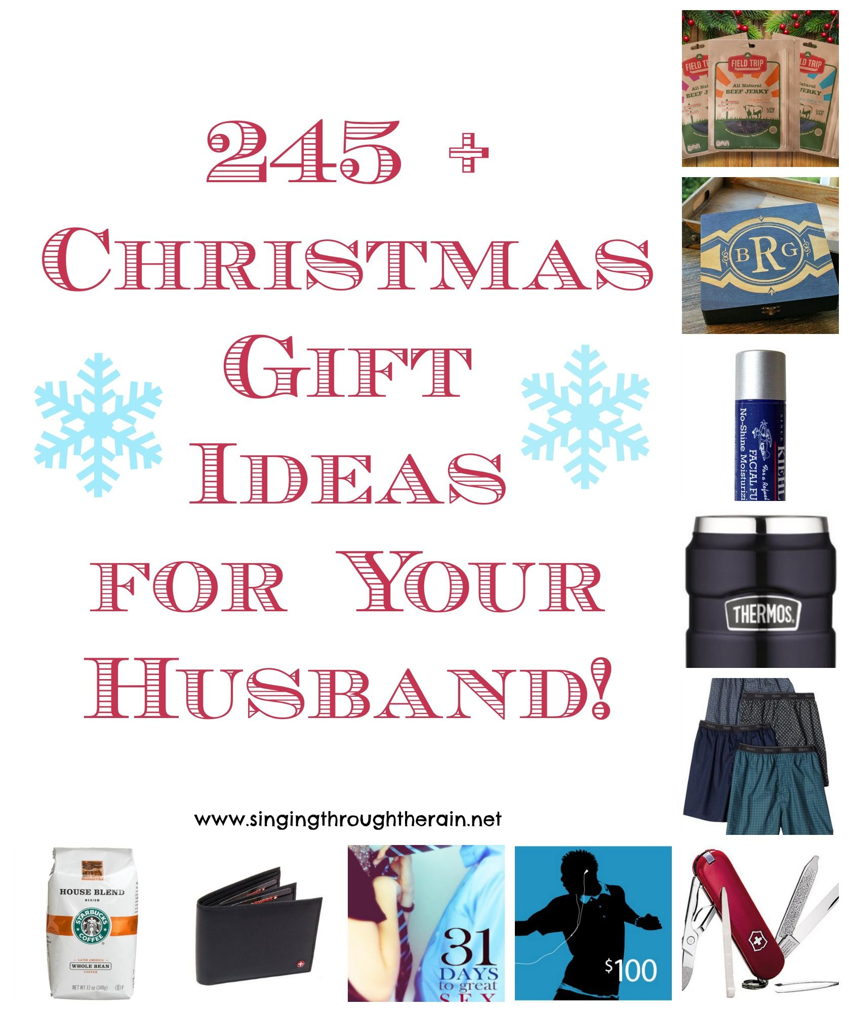 Homemade Christmas Gift Ideas For Husband Part - 17: 245+ Christmas Gift Ideas For Your Husband