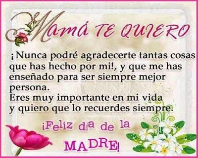 Poemas Para El Dia De Las Madres Cortos Mom Birthday Quotes Mom Poems Happy Mother Day Quotes