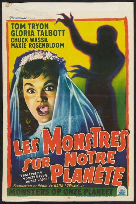 I Married a Monster from Outer Space Belgian poster 1958 Silly title for a decent 50s sci-fi effort.