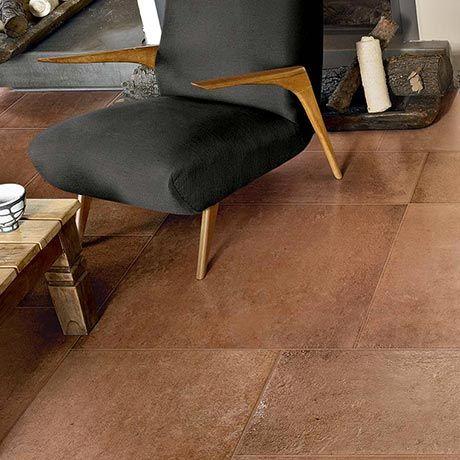 Terracotta Tiles Floor Imitation With Ceramic Tiles Terra