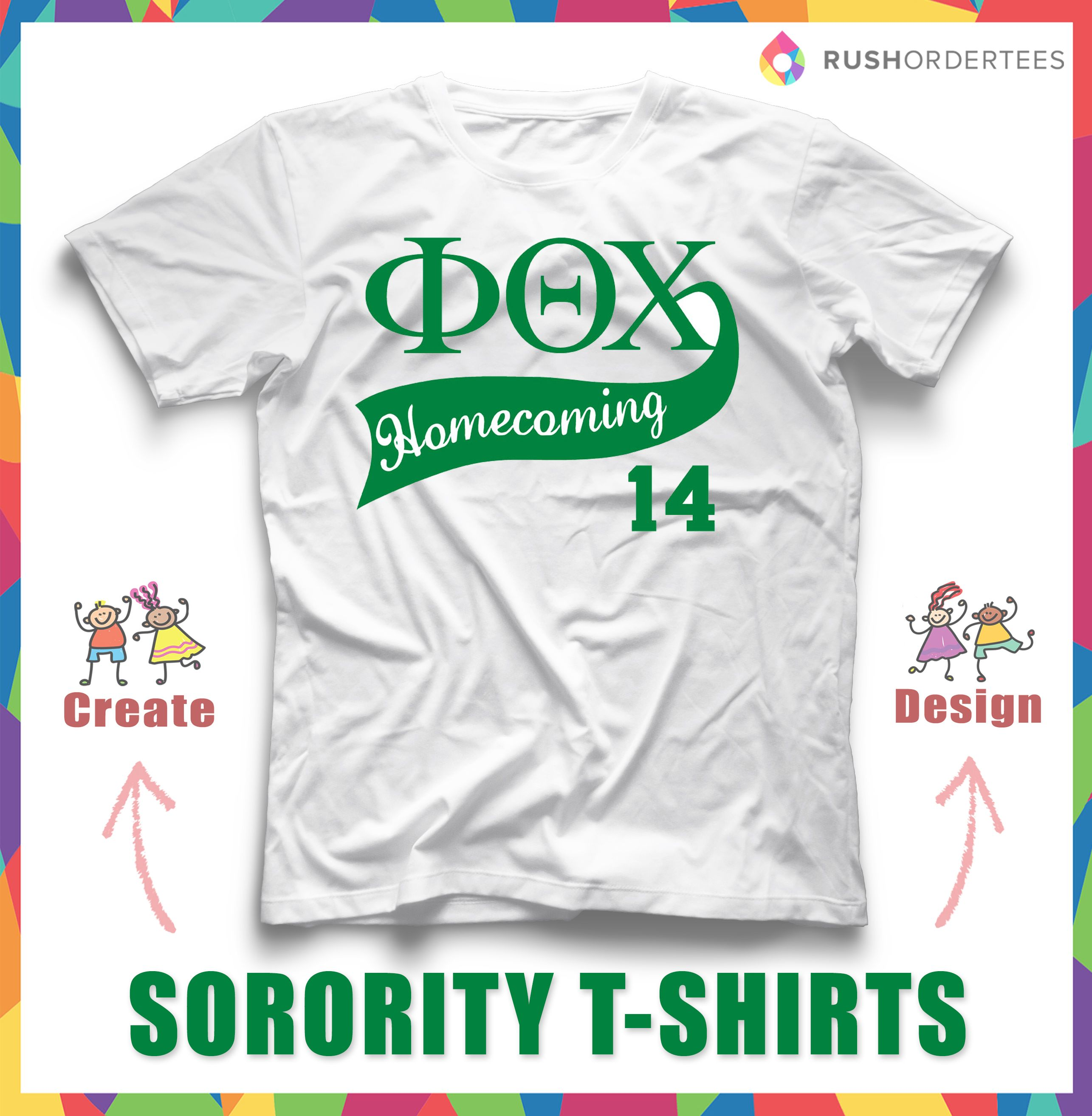 cool sorority homecoming tshirt design unite together by wearing your own sorority customtshirt - Homecoming T Shirt Design Ideas