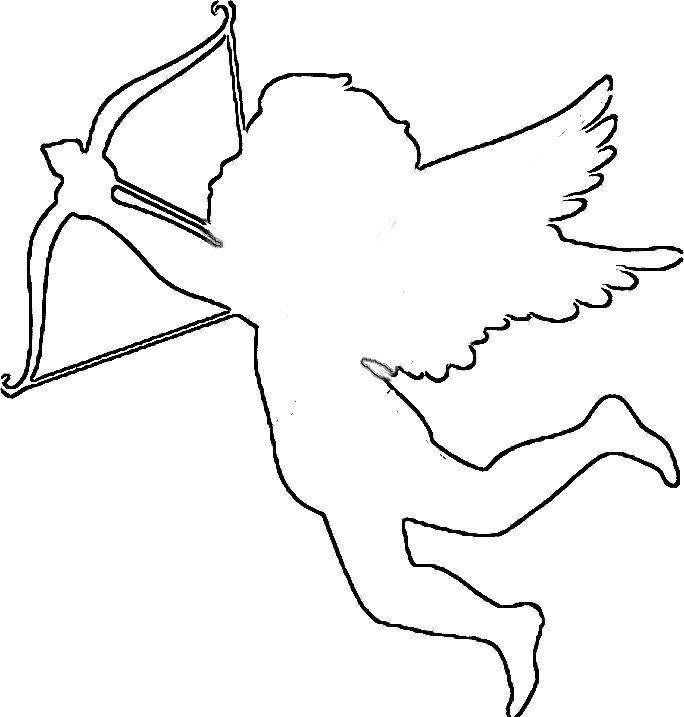 Cupid Template Printable Cupid Clipart Easy Pencil And In Color Cupid Clipart Easy In 2020 Free Craft Patterns Valentines Patterns Easy Valentine Crafts