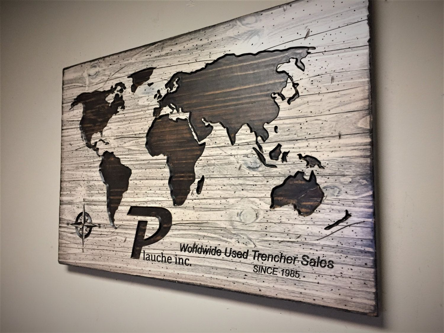 Business Decor Office Wall Art Luxury Wall Decor Wood Wall Art Wooden Map Business Signage Carved World Map looks like reclaimed wood & Howdy Owl Signs: Business Decor Office Wall Art Luxury Wall Decor ...