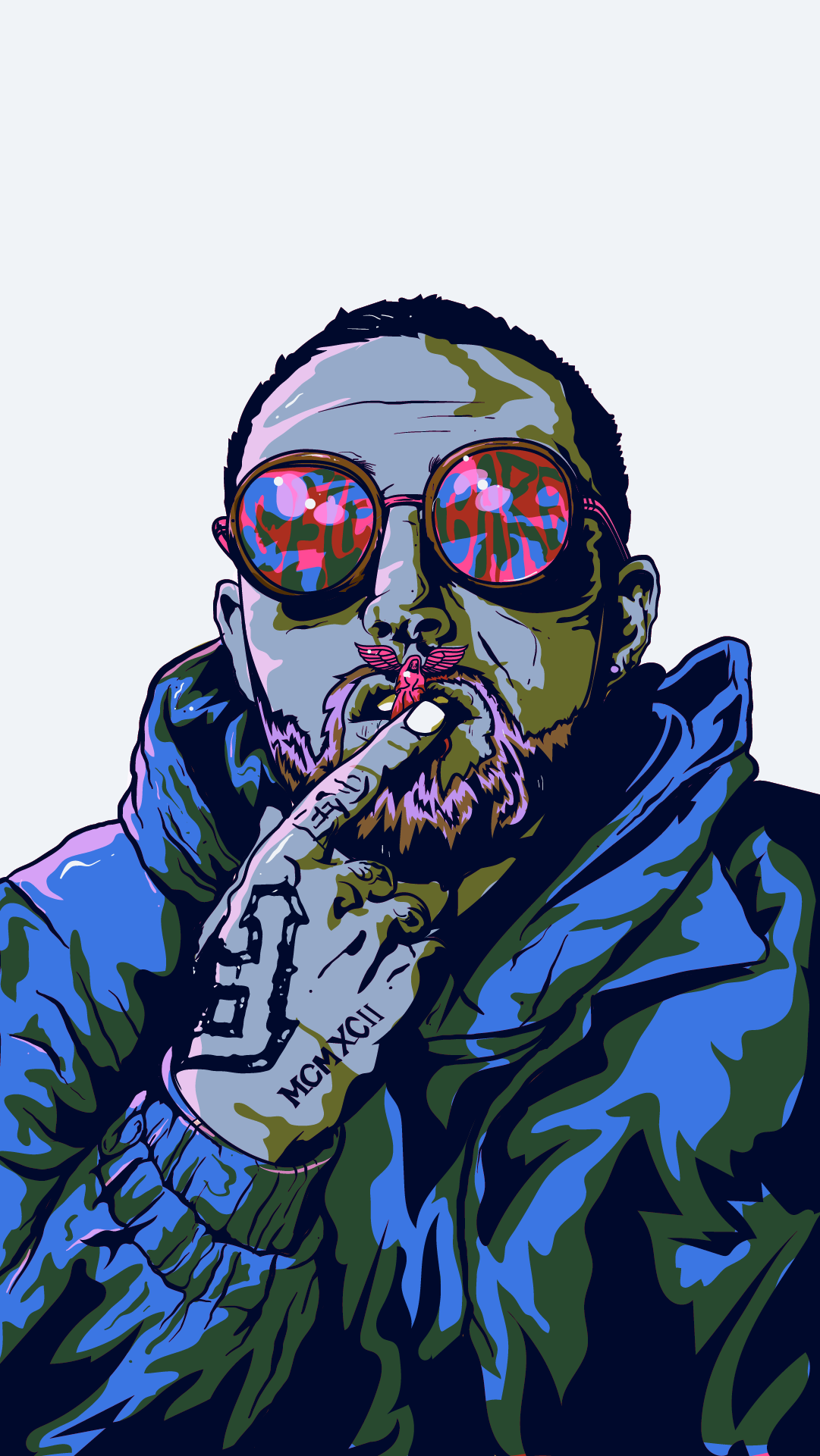 RIP Mac Miller Vector Portrait art I had to say goodbye