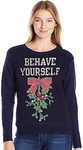 Womens mistletoe behave yourself christmas sweater christmas womens mistletoe behave yourself christmas sweater solutioingenieria Images