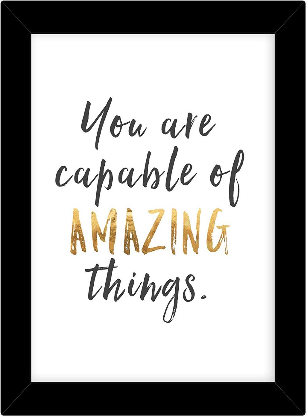 inspirational Saying Framed poster