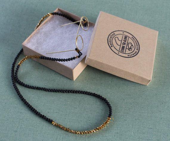 cadenas de oro y negro gafas de sol  los por StringEmAlong en Etsy