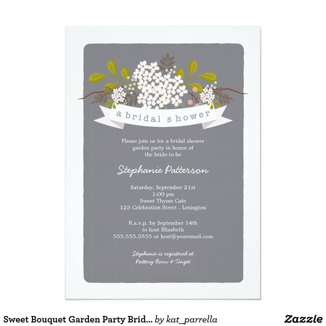 create your own invitation  zazzle  tea bridal