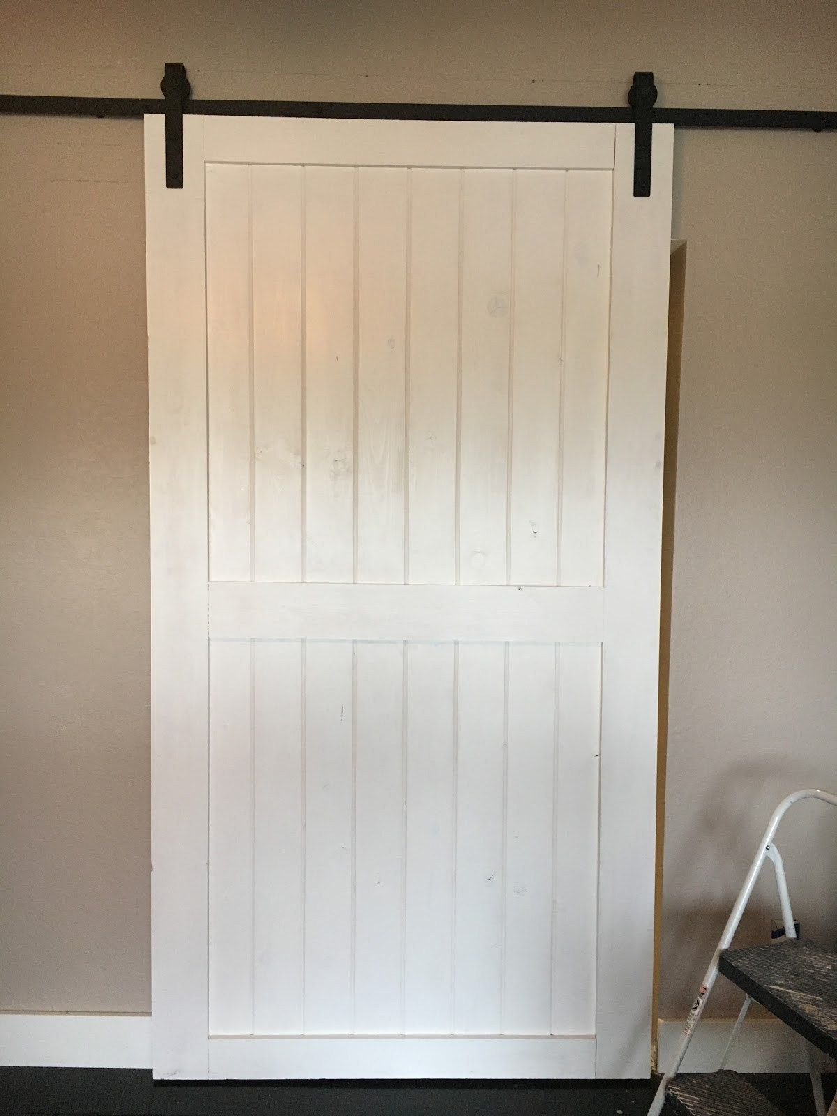 Diy Sliding Door Using Hardware Found On Ebay Over Inspired Featured On Remodelaholic Barn Doors Sliding Diy Barn Door Diy Sliding Door