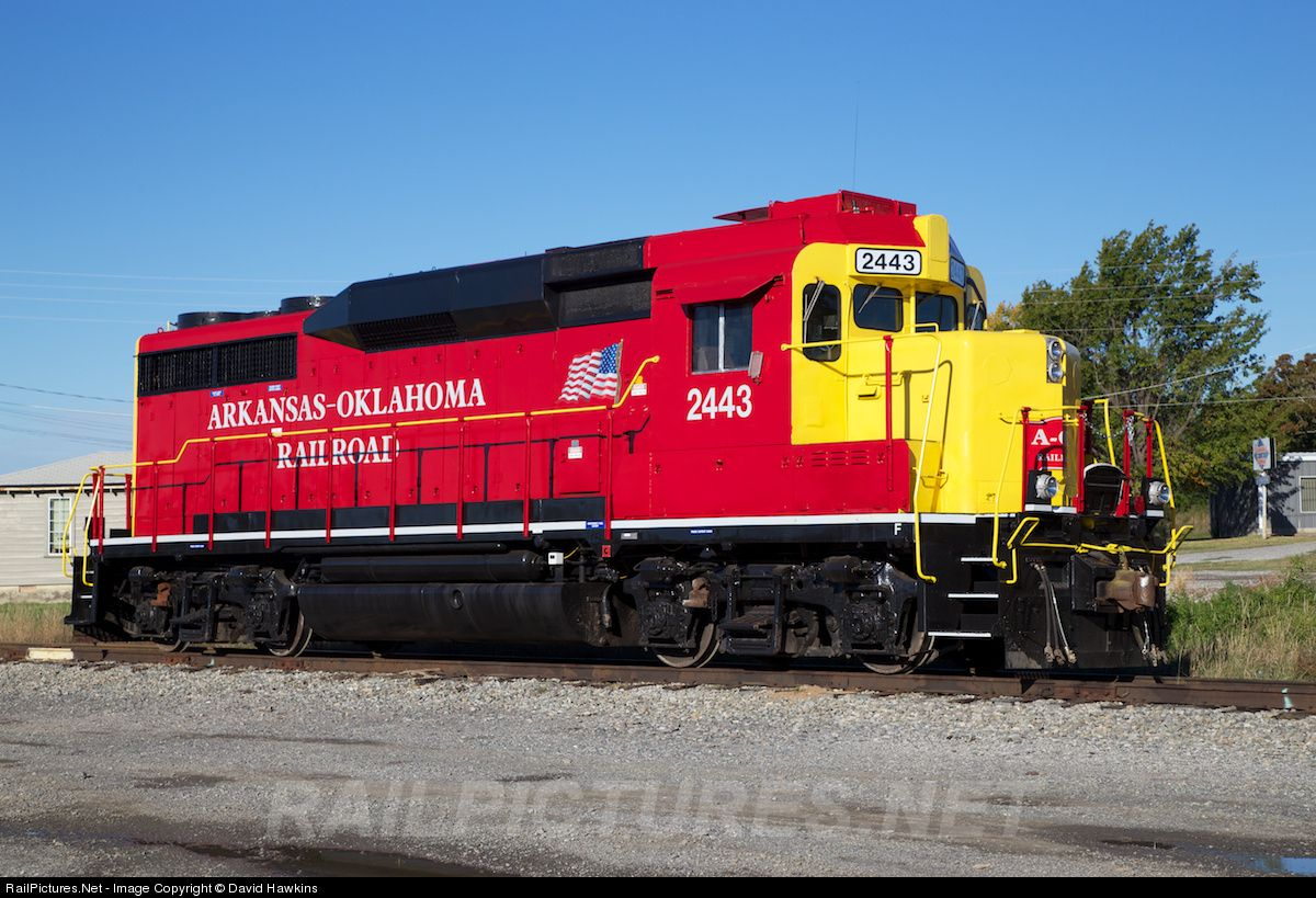 Net Photo: AOK 2443 Arkansas & Oklahoma Railroad EMD GP30 at Mc Alester,  Oklahoma by David Hawkins
