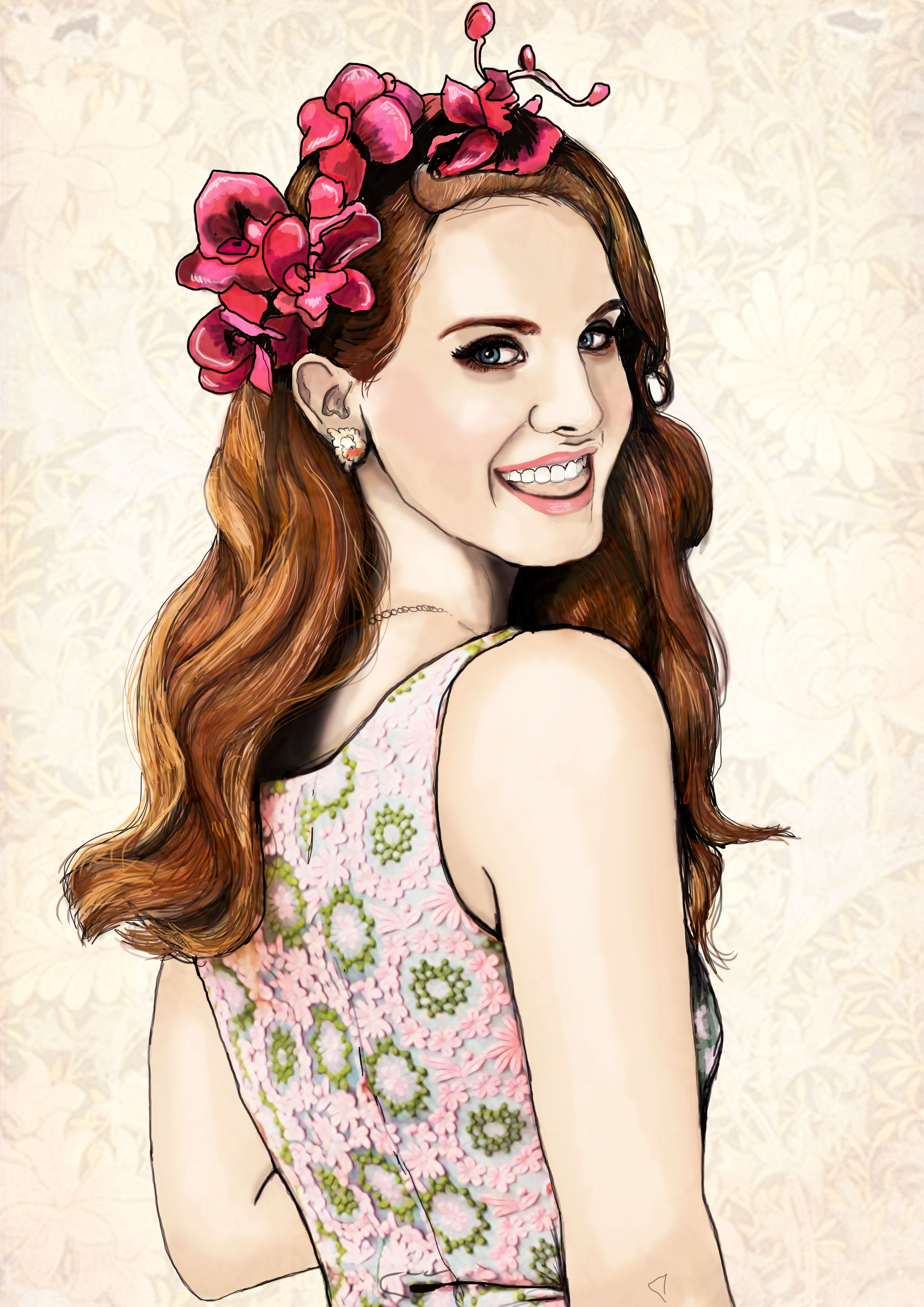 Iphone wallpaper tumblr lana - The Lovely Lana Del Rey Illustration By Paige Joanna