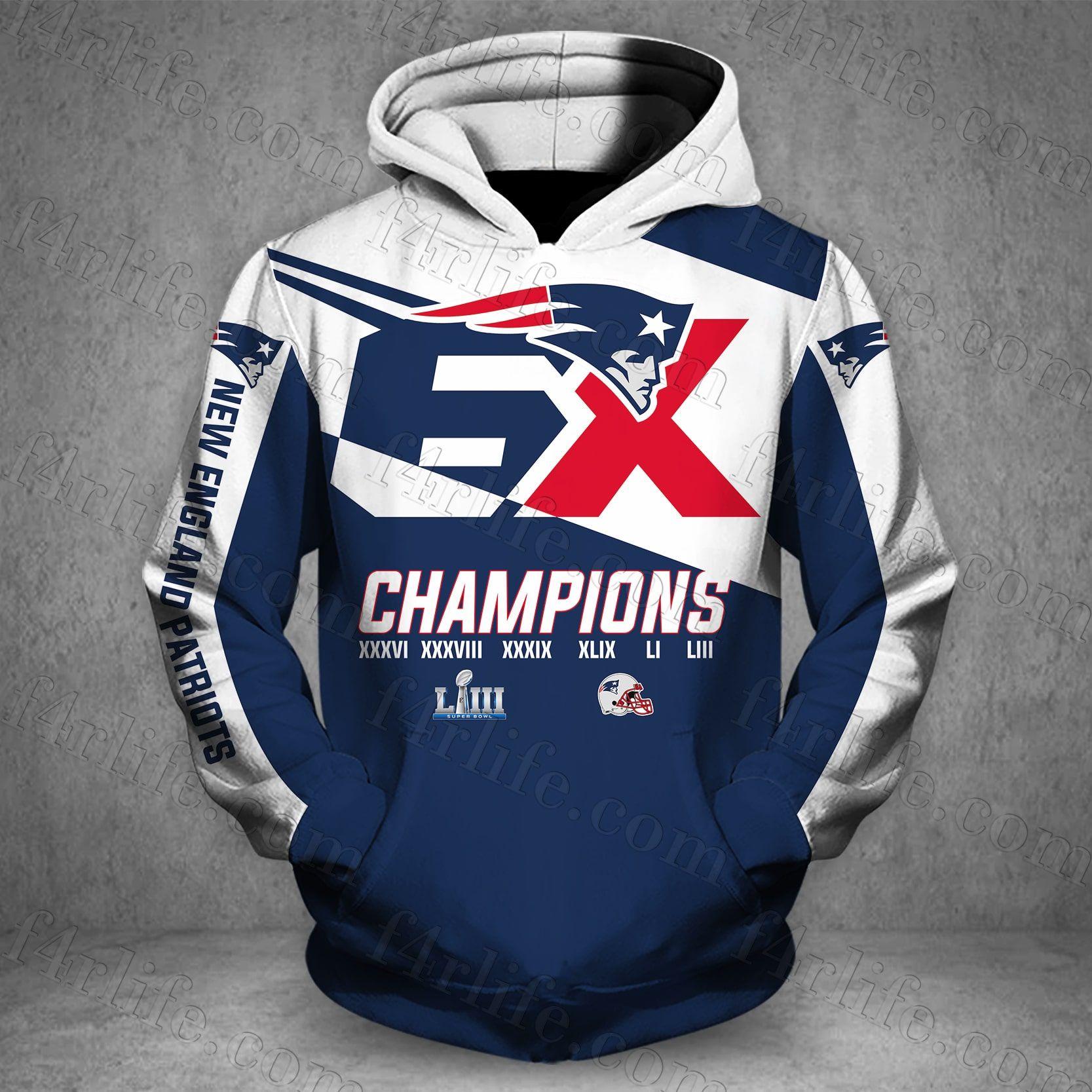 Men Women New Design New England Patriots Super Bowl Champions 3d Hoodie Hoodie For Patrio New England Patriots New England Patriots Hoodie Patriots Fans