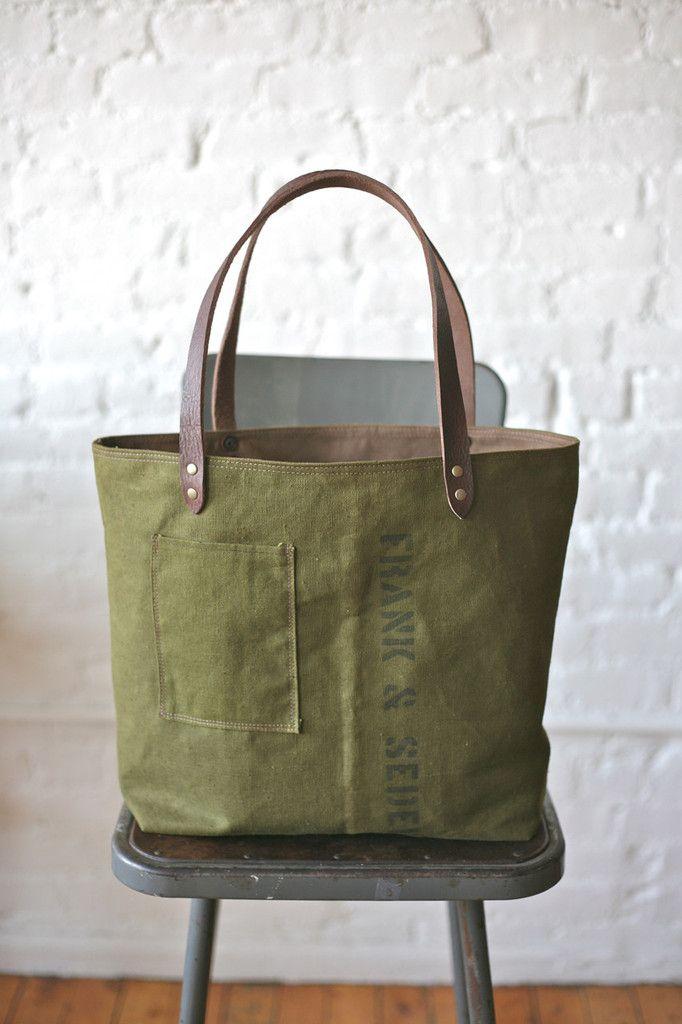 10e64b1de38a WWII era Canvas Tote Bag - FORESTBOUND - A responsive Shopify theme ...