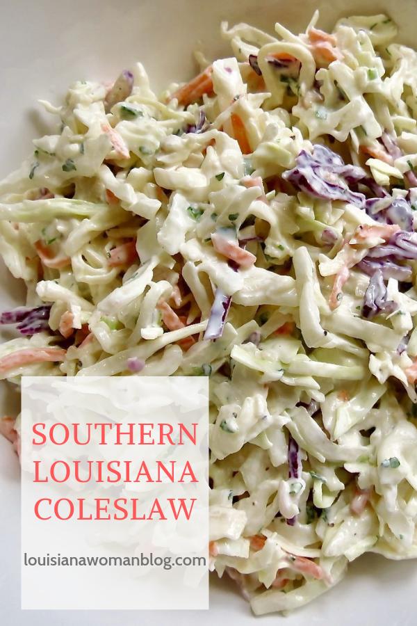 Southern Louisiana Coleslaw Louisiana Woman Blog Recipe In 2020 Coleslaw Homemade Coleslaw Dressing Spicy Coleslaw