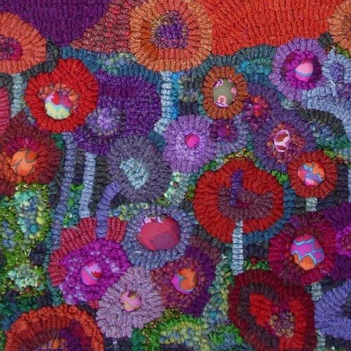 Detail From Hooked Rag Rug By Jane Jackson To Find Out More About S Work And Works Visit Www Rebelragruggers Co Uk