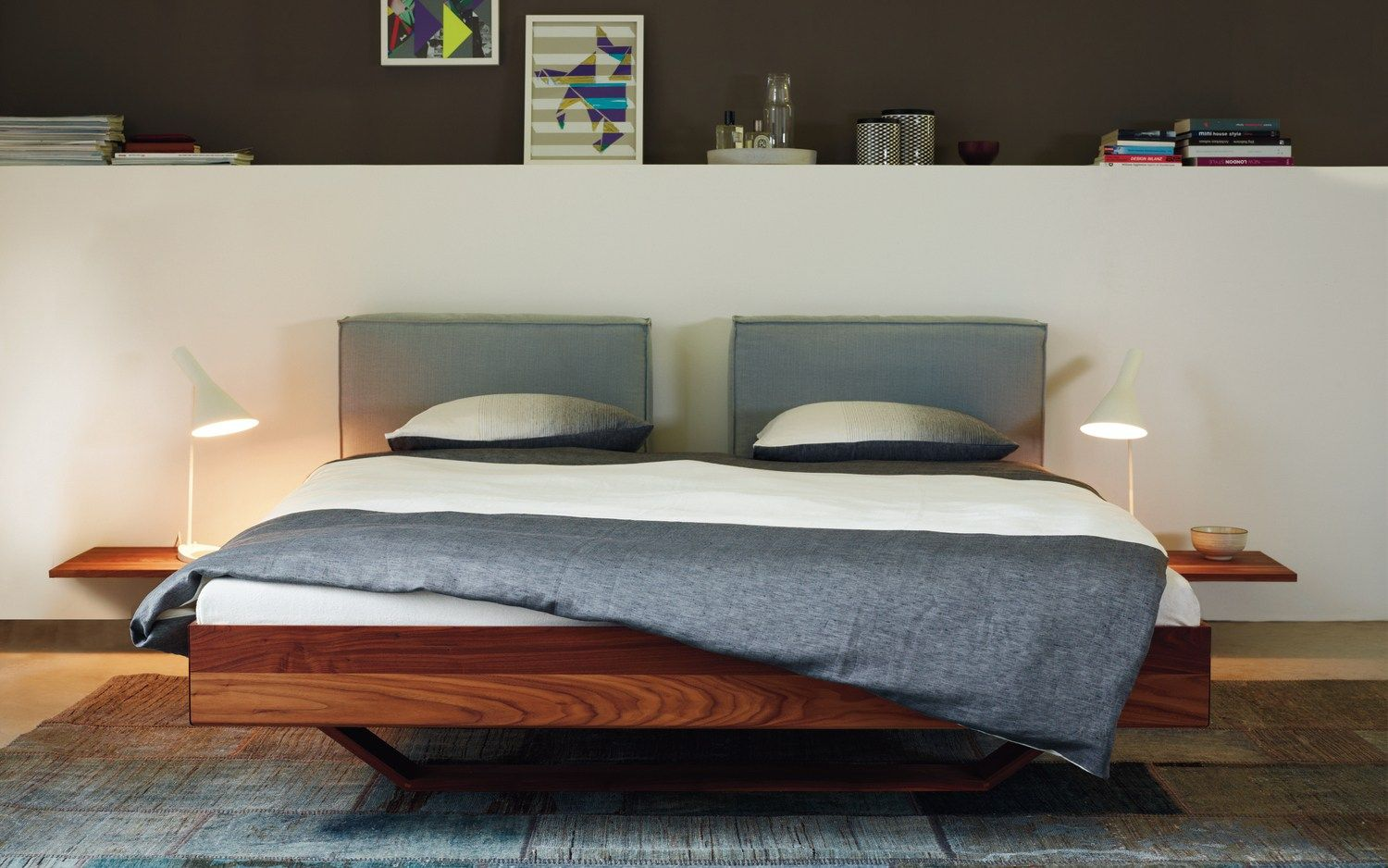Lacquered Wooden Double Bed B15 By More Wooden Double Bed Bed